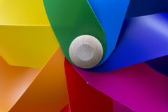 A colorful windmill in close-up. Royalty Free Stock Photography