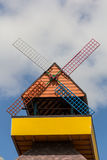 Colorful windmill home Stock Photo