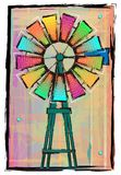 Colorful Windmill Stock Photography