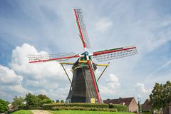 Colorful windmill Nooitgedacht Royalty Free Stock Image