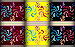 Colorful windmill pattern Stock Photos