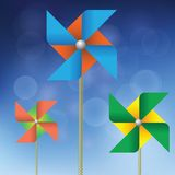 Colorful windmills Royalty Free Stock Image