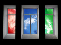 Colorful window Royalty Free Stock Photography