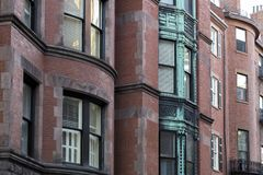 Windows of Boston. A colorful window on Boston Stock Images