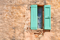 Colorful window on a building in the south of France. Colorful window on a building in France stock photography