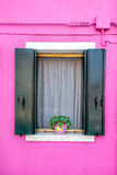 Colorful window of Burano Stock Photography