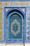 Colorful window in the Dome of the Rock Stock Image