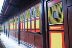 Colorful window and door in the temple Royalty Free Stock Photo