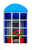 Colorful window of greece Royalty Free Stock Images