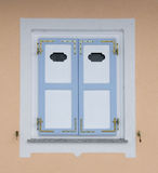 Colorful window of a house Royalty Free Stock Photos