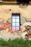 Colorful window in the old building Royalty Free Stock Images