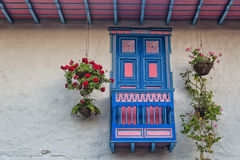 Colorful window. In Salento town, Colombia Royalty Free Stock Image