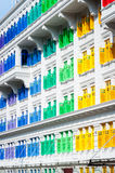 Colorful window shutters at Clark Quay, Singapore Stock Image