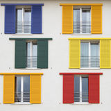 Colorful window shutters Royalty Free Stock Image