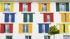 Colorful window shutters Stock Photo