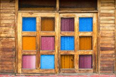 Colorful Window View Stock Photography