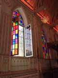 Colorful windows in church Royalty Free Stock Photos