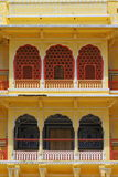 Colorful Windows Of City Palace. Colorful balcony and windows of famous Jaipur City Palace,Rajasthan. Palace of the Maharaja in the pink city of Jaipur stock image