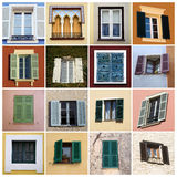 Colorful windows collage Stock Image