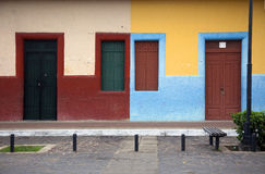 Colorful Windows and Doors. A row of colorful windows and doors Stock Photo
