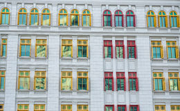 Colorful windows at the government building in Singapore.  stock images