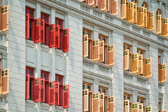 Colorful windows and shutters Royalty Free Stock Photography