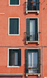 Colorful windows in Venice Royalty Free Stock Photography