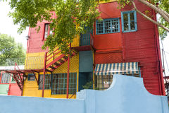 La Boca Buenos Aires. Colorful windows and walls in Caminto - La Boca, Buenos Aires Royalty Free Stock Photos