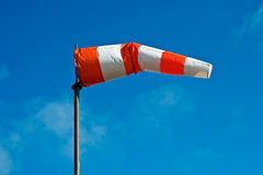 Colorful windsock. Wind sock against a blue sky Stock Photos