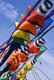 Colorful Windsocks. Captured on a breezy spring day stock images