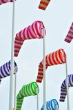 Colorful windsocks in  port. Colorful windsocks in yachting port Royalty Free Stock Photos