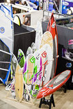 Colorful Windsurf Tables At Big Blue Sea Expo Stock Photography