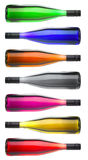 Colorful Wine Bottles On Stock Photos
