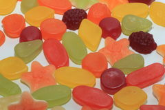 Colorful wine gums Stock Photos