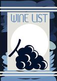 Colorful Wine list cover with grapes Royalty Free Stock Photo