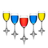 Colorful in wineglass Royalty Free Stock Images