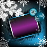 Colorful winter frame Royalty Free Stock Image