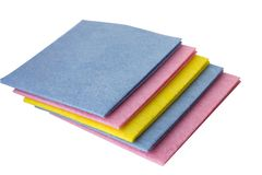 Colorful wipes for home cleaning stock photos