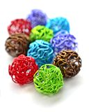 Colorful wire balls Royalty Free Stock Photography