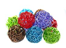 Colorful wire balls Stock Photos