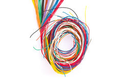 Colorful wire isolated on white Royalty Free Stock Image