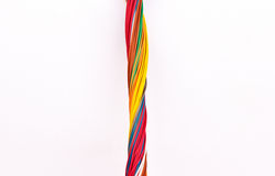 Colorful wire isolated on white Stock Images
