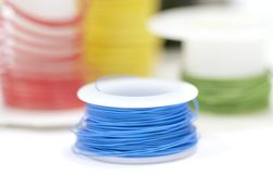 Colorful wire rolls Stock Photos