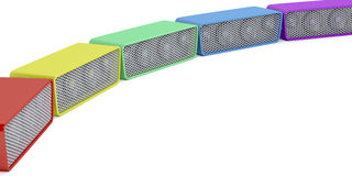 Colorful wireless speakers Stock Image