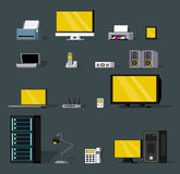 Colorful Wireless Technology Objects Set Royalty Free Stock Photography