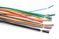 Colorful wires Stock Images