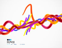 Colorful wires abstract background. This is file of EPS10 format Stock Photography