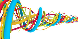 Colorful wires Royalty Free Stock Images