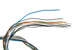 Colorful wires Stock Image