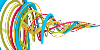 Colorful wires Stock Photography